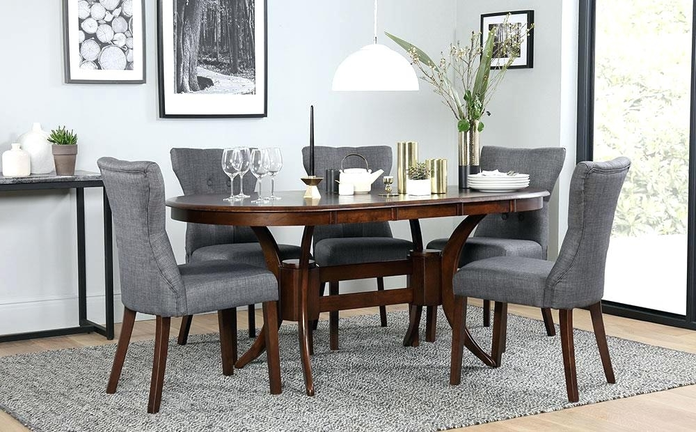 Most Recently Released Magnificent Gallery Townhouse Oval Dark Wood Extending Dining Table In Dark Wood Dining Tables And 6 Chairs (View 13 of 20)