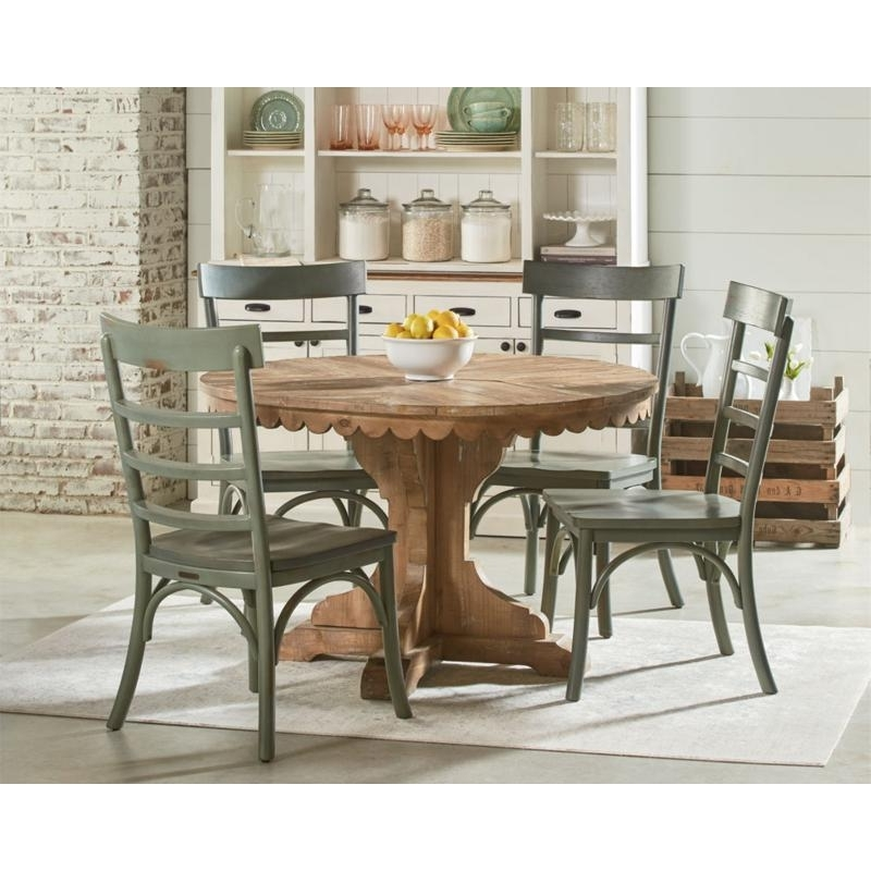 Most Recently Released Magnolia Home Dining Tables Farmhouse 6010601s Top Tier Pedestal Intended For Magnolia Home Top Tier Round Dining Tables (View 6 of 20)