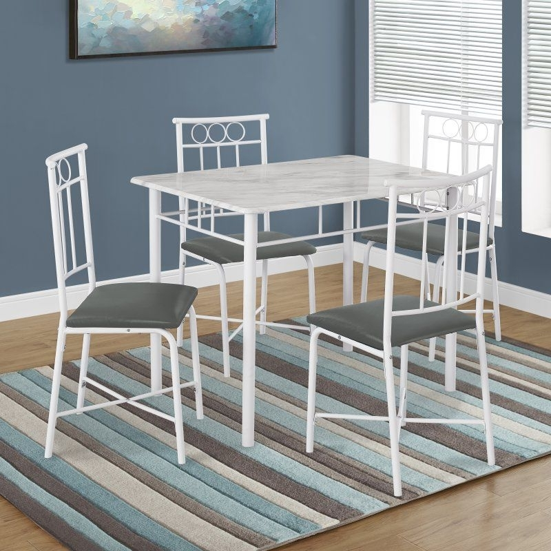 Most Recently Released Monarch Specialties Kirsten 5 Piece Dining Table Set – I 1030 Intended For Kirsten 5 Piece Dining Sets (View 4 of 20)