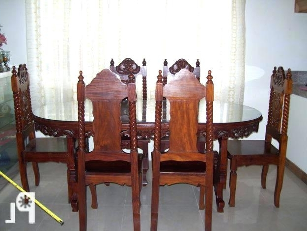 Most Recently Released Oval Dining Tables For Sale Intended For Oval Dining Table Set For 6 Tables Sale From Regarding Room Chairs (View 9 of 20)