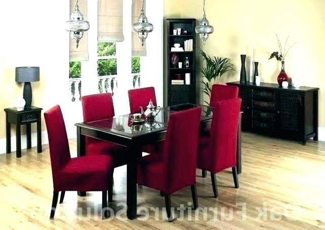 Most Recently Released Red Dining Tables And Chairs Regarding Red Dining Table Red Dining Room Set 7 Nice Black And Red Dining (View 8 of 20)
