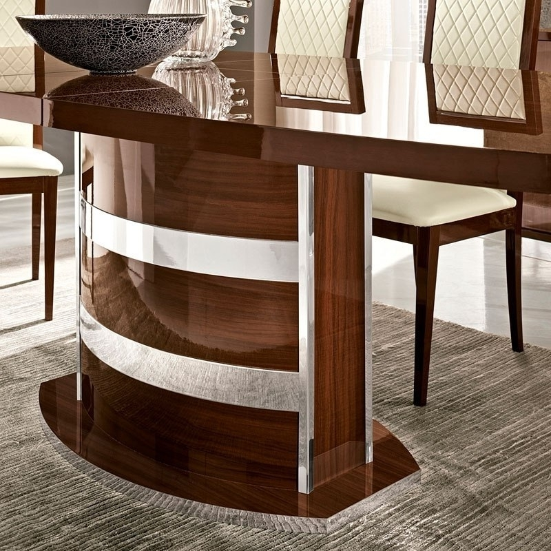 Most Recently Released Roma Dining Tables Within Roma Dining Table (Walnut) Esf Furniture (View 10 of 20)