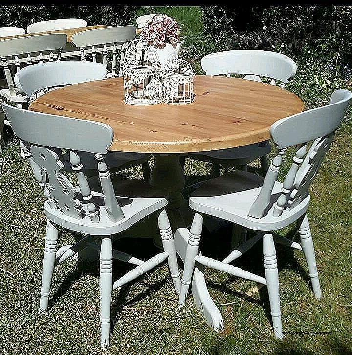 Most Recently Released Shabby Chic Cream Dining Table And Chairs Fresh Solid Pine Shabby In Shabby Chic Cream Dining Tables And Chairs (View 10 of 20)
