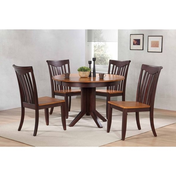 "Most Recently Released Shop Iconic Furniture Company 45""x45""x63"" Contemporary Whiskey/mocha With Regard To Caden 7 Piece Dining Sets With Upholstered Side Chair (View 11 of 20)"
