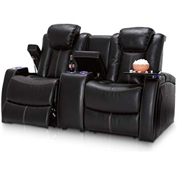 Most Recently Released Travis Dk Grey Leather 6 Piece Power Reclining Sectionals With Power Headrest & Usb Intended For Amazon: Seatcraft Republic Leather Home Theater Seating Power (Gallery 12 of 15)