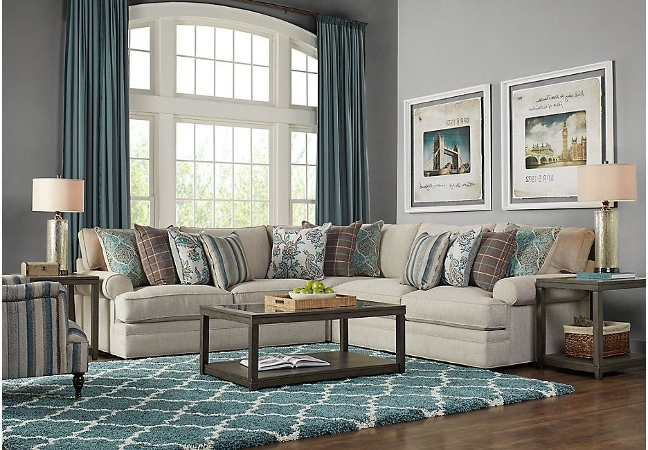Most Recently Released Turdur 3 Piece Sectionals With Raf Loveseat Throughout Cindy Crawford Home Lincoln Heights Beige 3 Pc Sectional (View 11 of 15)