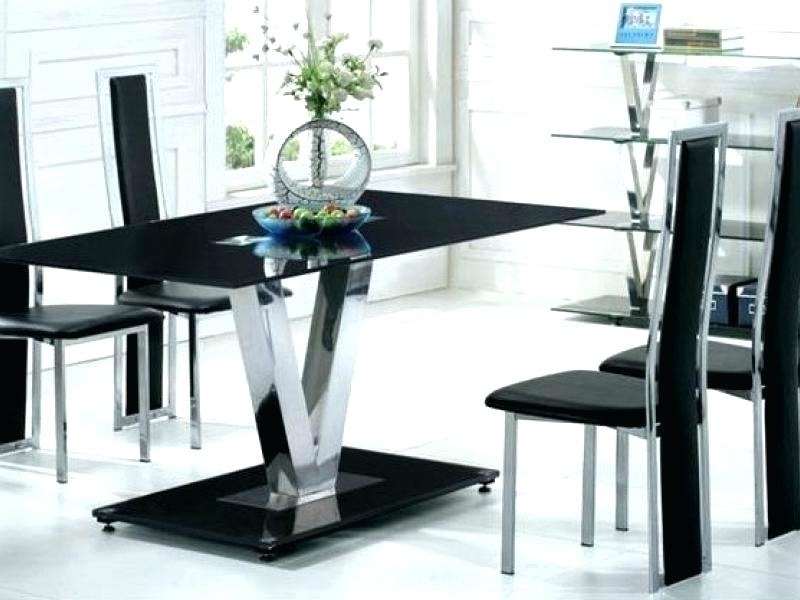 Most Up To Date 6 Chair Dining Table Dining Table With 6 Chairs 6 Chair Dining Table Throughout Black Glass Dining Tables 6 Chairs (View 14 of 20)