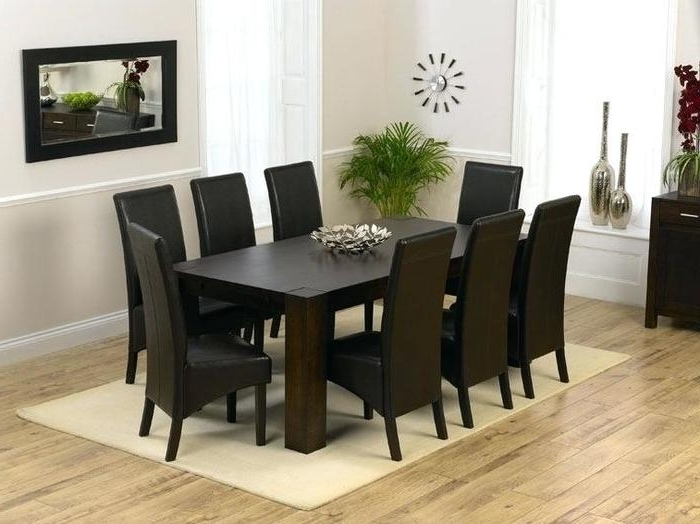 Most Up To Date 8 Seater Black Dining Tables Regarding  (View 13 of 20)