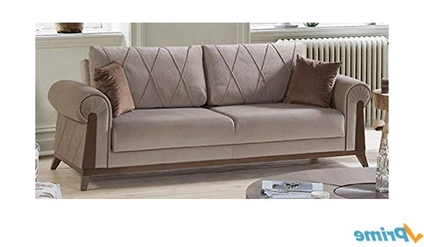 Most Up To Date Amazon: Perla Furniture London Sofa 8: Kitchen & Dining Intended For London Optical Reversible Sofa Chaise Sectionals (View 2 of 15)