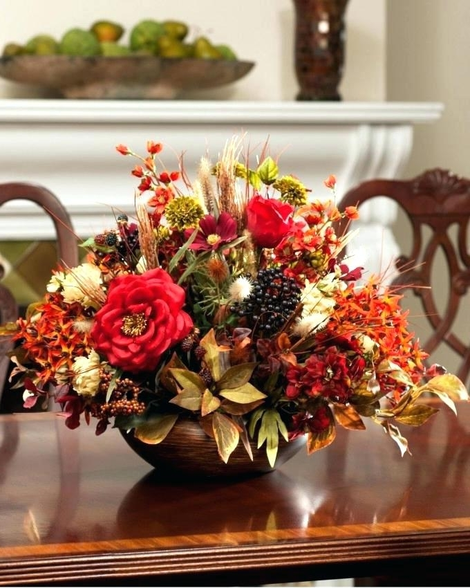 Most Up To Date Artificial Floral Arrangements For Dining Tables Regarding Silk Flower Arrangements For Dining Room Table – Napawinetours (View 14 of 20)