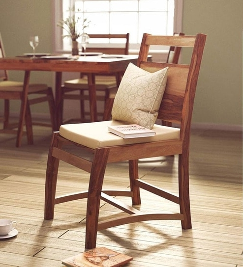 Most Up To Date Buy Oakland Dining Chair In Natural Sheesham Wood Finish For Sheesham Dining Chairs (View 10 of 20)