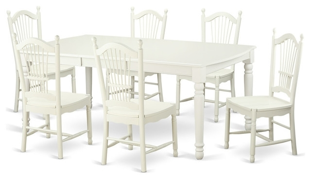 Most Up To Date Carly Rectangle Dining Tables Inside Carly Rectangular Dining Table Set, White – Traditional – Dining (View 14 of 20)