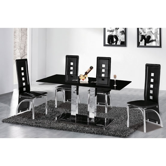 Most Up To Date Cheap Glass Dining Tables And 6 Chairs Inside 6 Reasons To Buy Dining Table And Chairs In Black Glass (View 5 of 20)