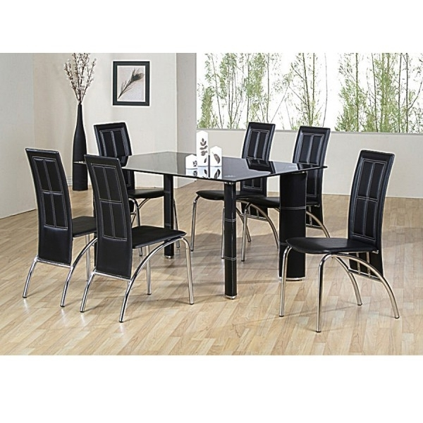 Most Up To Date Cheap Heartlands Worcester Glass Dining Table Set & 6 Chairs For For Cheap Glass Dining Tables And 4 Chairs (View 6 of 20)