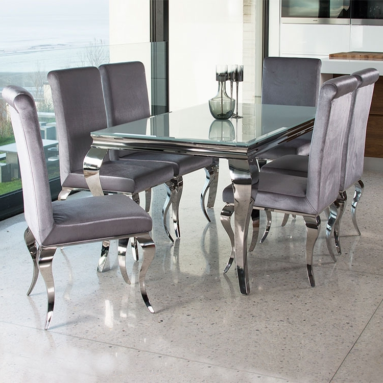 Most Up To Date Chrome Dining Room Sets In  (View 14 of 20)
