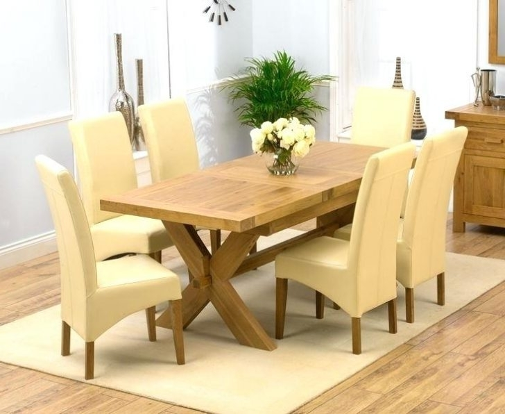 Most Up To Date Chunky Solid Oak Dining Tables And 6 Chairs With Regard To Winsome Solid Oak Dining Set Wood Table Sets Uk And 6 Leather Chairs (View 7 of 20)