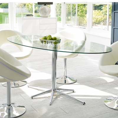 Most Up To Date Clear Glass Dining Tables And Chairs In Stellar Base Glass 6 Seater Dining Table Clear – Dwell (View 2 of 20)