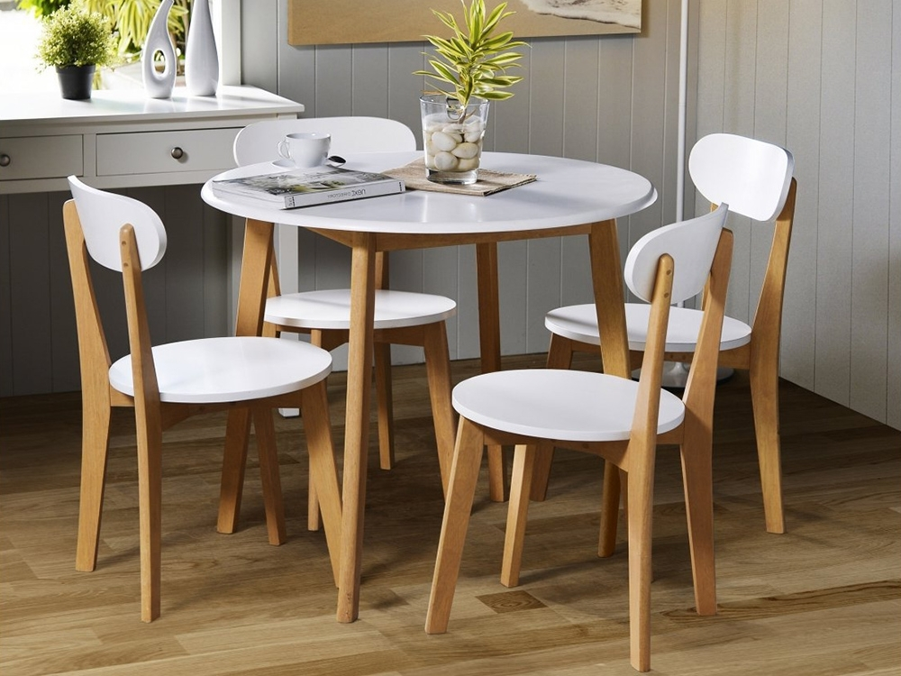 Most Up To Date Compact Dining Room Sets For Compact Dining Table Complete With Glass Vase Include River Stone In (View 12 of 20)