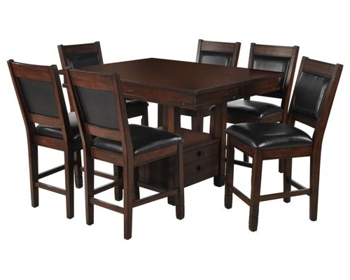 Most Up To Date Dining Room Furniture With Regard To Jaxon Grey 7 Piece Rectangle Extension Dining Sets With Uph Chairs (View 13 of 20)