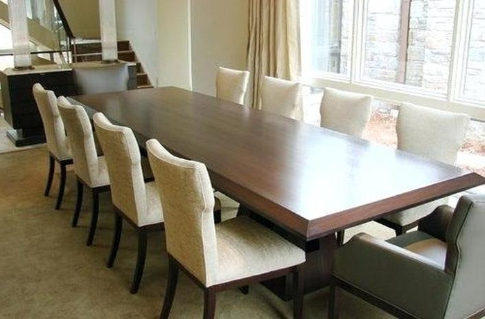 Most Up To Date Dining Table And 10 Chairs Intended For  (View 11 of 20)