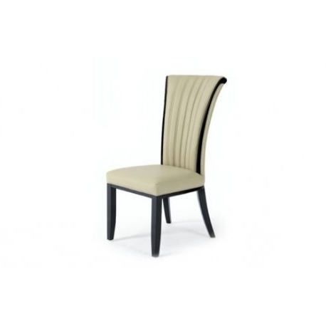 Most Up To Date Fabriano Italian Designer Leather Dining Chair – Avreli Beds In Cream Leather Dining Chairs (View 10 of 20)