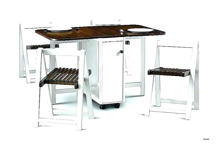 Most Up To Date Folding Dining Table And Chairs Sets Inside Folding Dining Room Table Chair Sets Fold Away And Chairs Up Set (View 10 of 20)