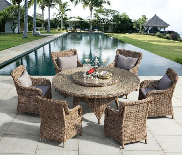 Most Up To Date Garden Dining Furniture, Outdoor Dining Furniture, Patio Dining Intended For Rattan Dining Tables (View 7 of 20)