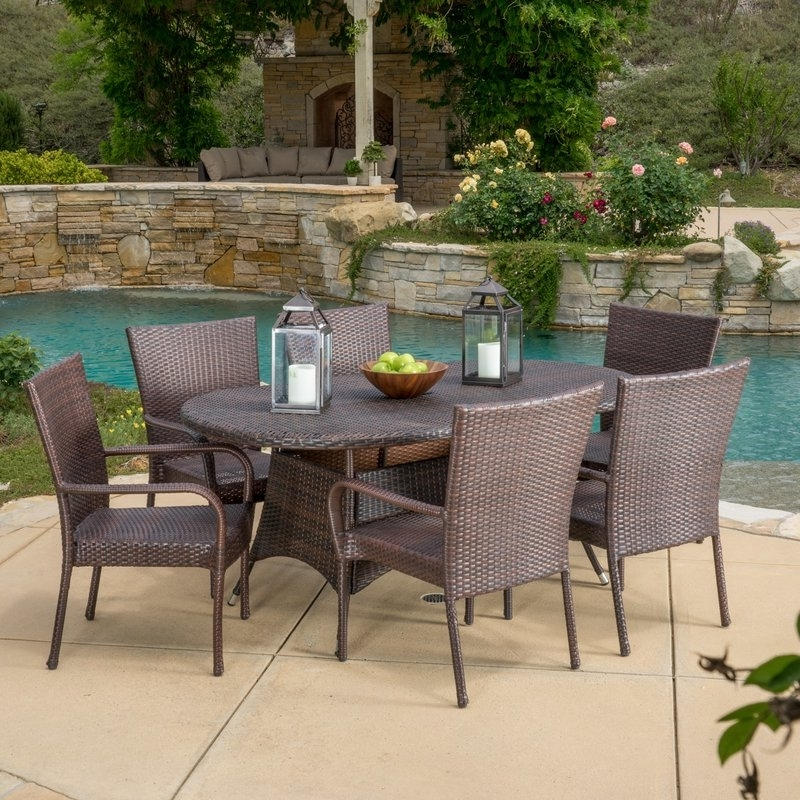 Most Up To Date Gavin 7 Piece Dining Sets With Clint Side Chairs Regarding Three Posts Barney 7 Piece Dining Set & Reviews (View 12 of 20)