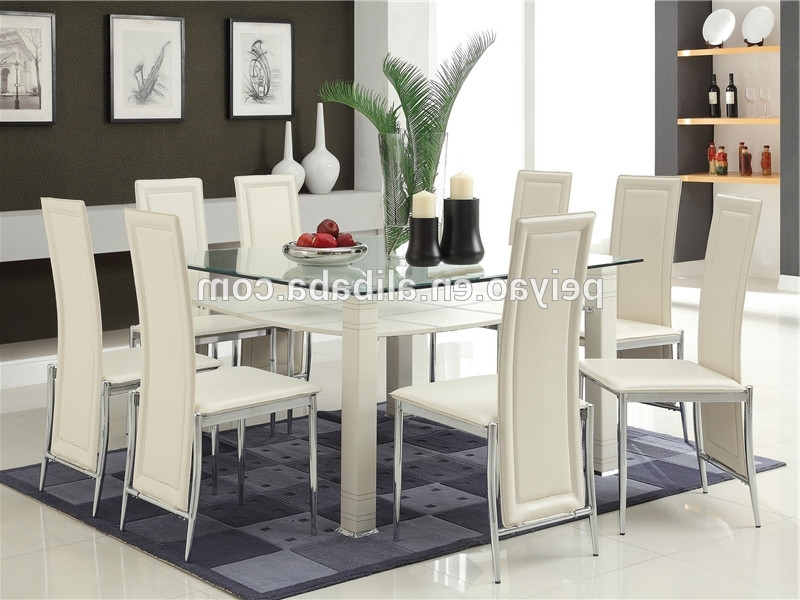 Most Up To Date Glass Dining Tables With 6 Chairs Inside High Quality Glass Dining Table 6 Chairs Set – Buy Purple Dining (View 20 of 20)