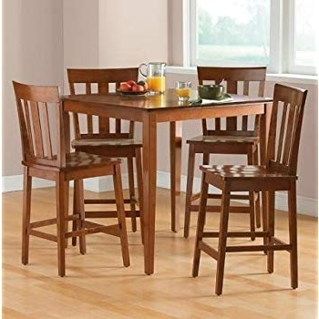 Most Up To Date Hyland 5 Piece Counter Sets With Bench Regarding Amazon – Ashley Hyland D258 223 5 Piece Dining Room Set With  (View 15 of 20)