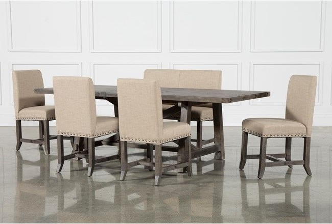 Featured Photo of Jaxon 6 Piece Rectangle Dining Sets With Bench & Wood Chairs