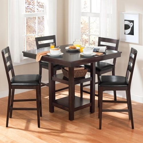 Most Up To Date Kitchen Table Walmart Canopy Gallery Collection 5 Piece Counter In Palazzo 7 Piece Dining Sets With Pearson Grey Side Chairs (View 11 of 20)