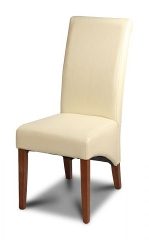 Most Up To Date Leather Dining Room Chair In Cream Inside Cream Leather Dining Chairs (View 11 of 20)