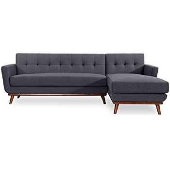 Most Up To Date Lucy Dark Grey 2 Piece Sectionals With Raf Chaise With Amazon: Kardiel Jackie Mid Century Modern Sectional Sofa Right (View 11 of 15)