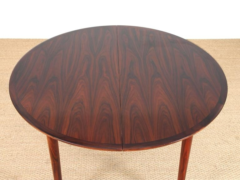 Most Up To Date Mid Century Modern Danish Extendable Round Dining Table In Rio Intended For Rio Dining Tables (View 18 of 20)