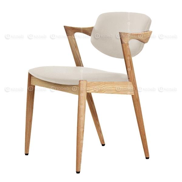 Most Up To Date Oak Fabric Dining Chairs Regarding Designer Chair Hong Kong – Kai Oak Fabric Dining Chair – Oak Finish (View 13 of 20)