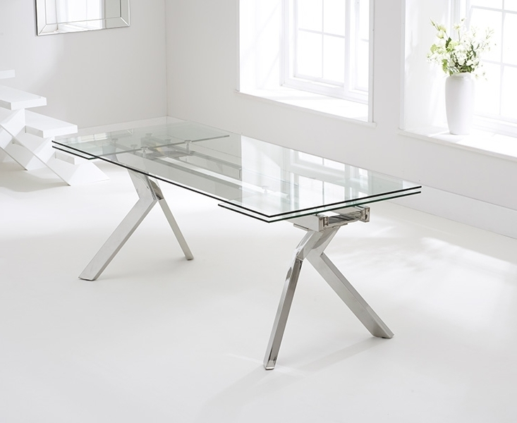 Most Up To Date Palazzo Rectangle Dining Tables Intended For Buy Mark Harris Palazzo Glass Dining Table – 200Cm Rectangular (View 12 of 20)