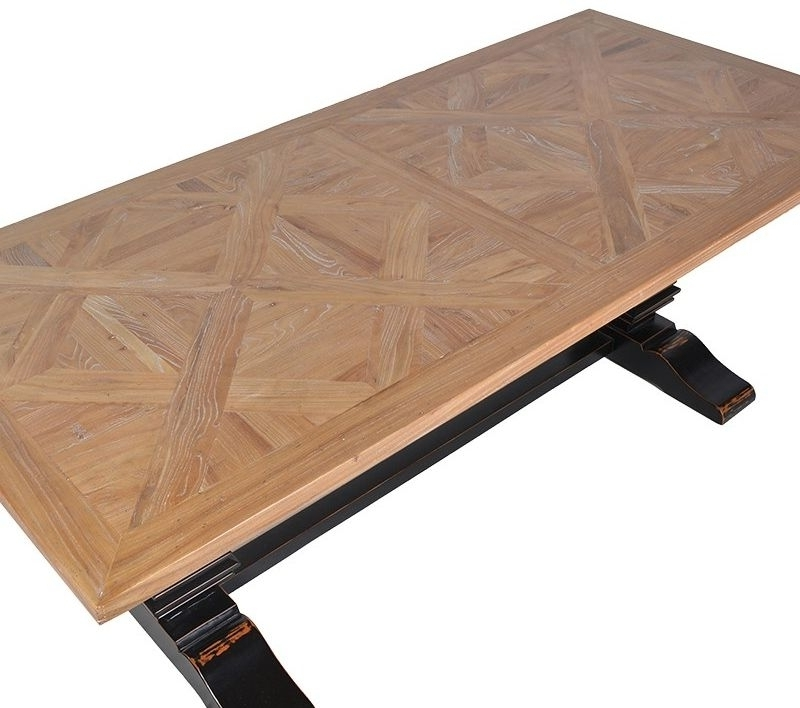 Most Up To Date Parquet Dining Tables For Buy Parquet Top Black Dining Table – 220cm Online – Cfs Uk (View 13 of 20)
