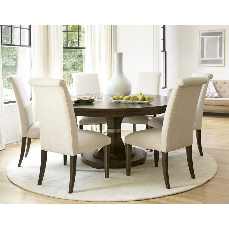 Most Up To Date Pedestal Dining Tables And Chairs Regarding Outstanding Kitchen Round Pedestal Kitchen Table 42 Round Wood (View 8 of 20)