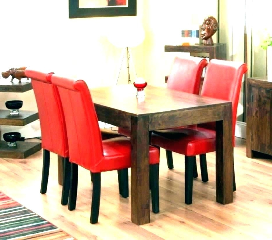 Most Up To Date Red Dining Tables And Chairs In Red Dining Table Set – Kuchniauani (View 9 of 20)