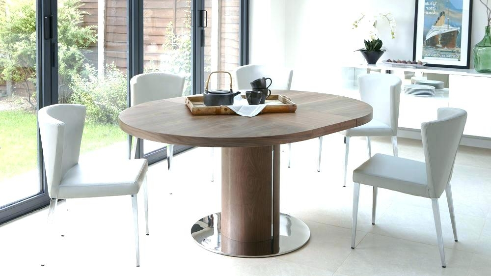 Most Up To Date Round Extending Dining Table Sets Circular Extending Dining Table Inside Round Extending Dining Tables Sets (View 7 of 20)