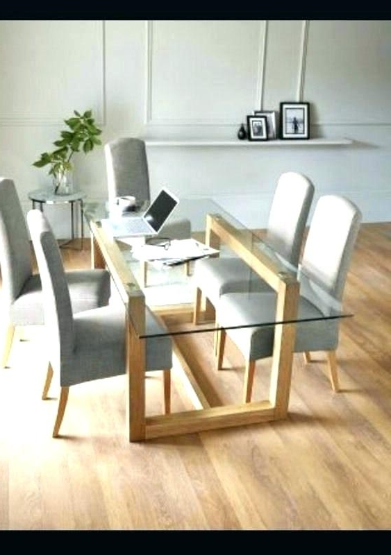 Most Up To Date Round Glass And Oak Dining Table – Tinvietkieu With Regard To Oak And Glass Dining Tables And Chairs (View 8 of 20)