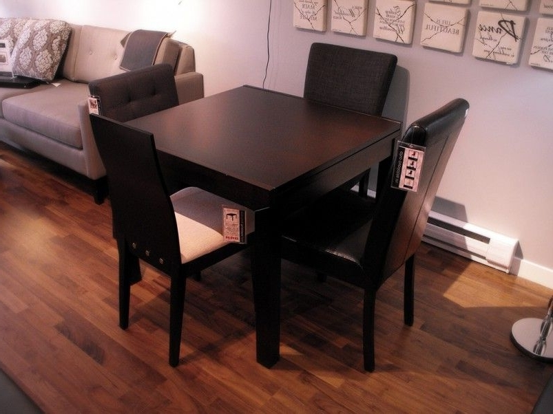 Most Up To Date Small Dark Wood Dining Tables Pertaining To Furniture, Classic Black Wooden Small Square Dining Table Laminate (View 13 of 20)