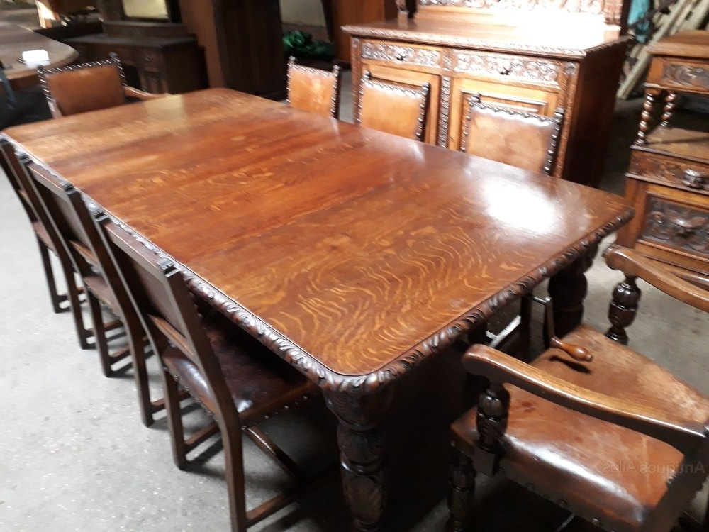 Most Up To Date Superb Carved Oak Dining Room Suite – Antiques Atlas With Regard To Oak Dining Suite (View 6 of 20)