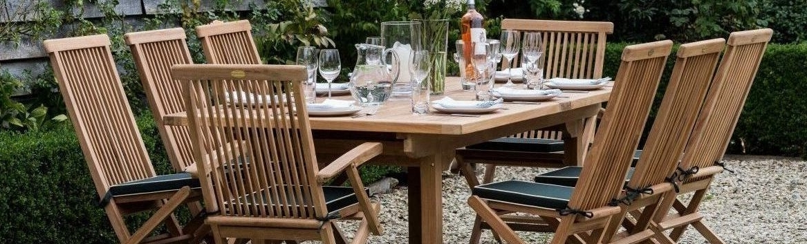 Most Up To Date Teak Garden Furniture Sets Outdoor Benches Chairs Tables Teakunique For Garden Dining Tables And Chairs (View 14 of 20)