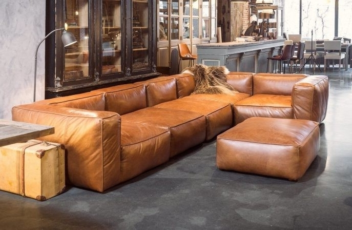 Most Up To Date Tenny Cognac 2 Piece Left Facing Chaise Sectionals With 2 Headrest For Cognac Leather Sectional Tenny 2 Piece Left Facing Chaise W Headrest (View 8 of 15)
