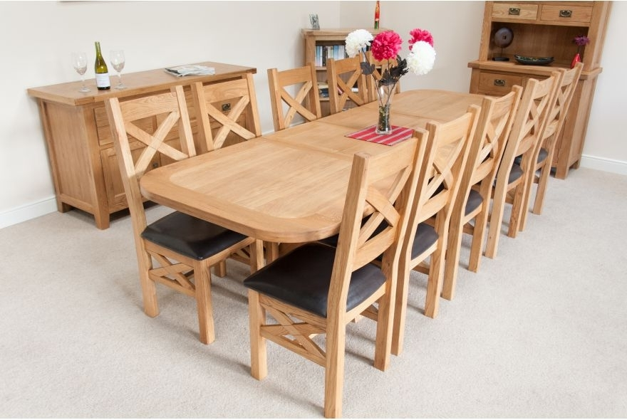 Most Up To Date The Brilliant Extending Dining Tables To Extending Oak Dining Table Regarding Extending Dining Table With 10 Seats (View 17 of 20)