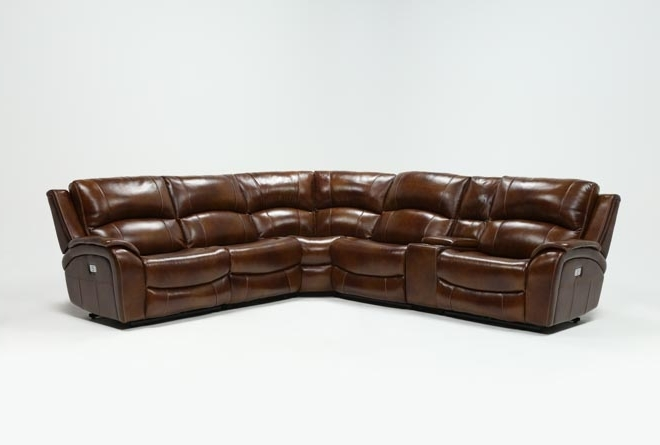 Featured Photo of Travis Dk Grey Leather 6 Piece Power Reclining Sectionals With Power Headrest & Usb