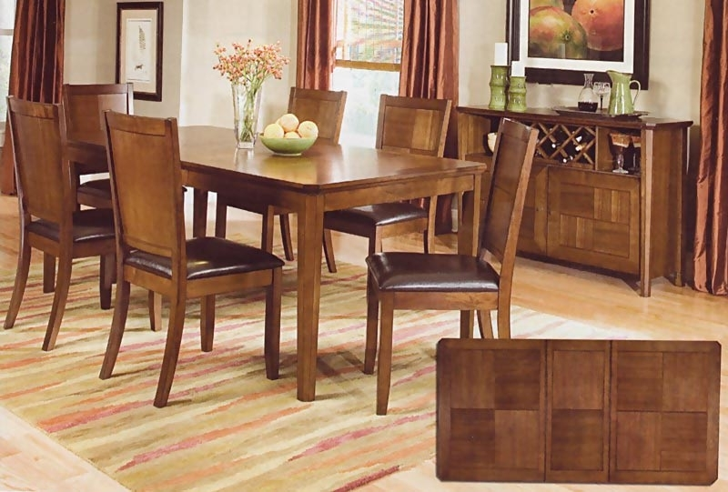 Most Up To Date Walnut Dining Table Sets With Regard To Walnut Finish Dining Room Set (View 10 of 20)