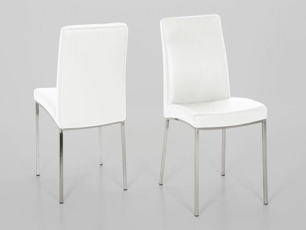 Most Up To Date White Leather Dining Room Chairs Intended For Perfect Decision For Your Home Interior – White Leather Dining Room (View 20 of 20)